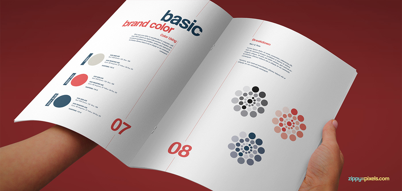 The Artistic Brand Guidelines Template On Behance