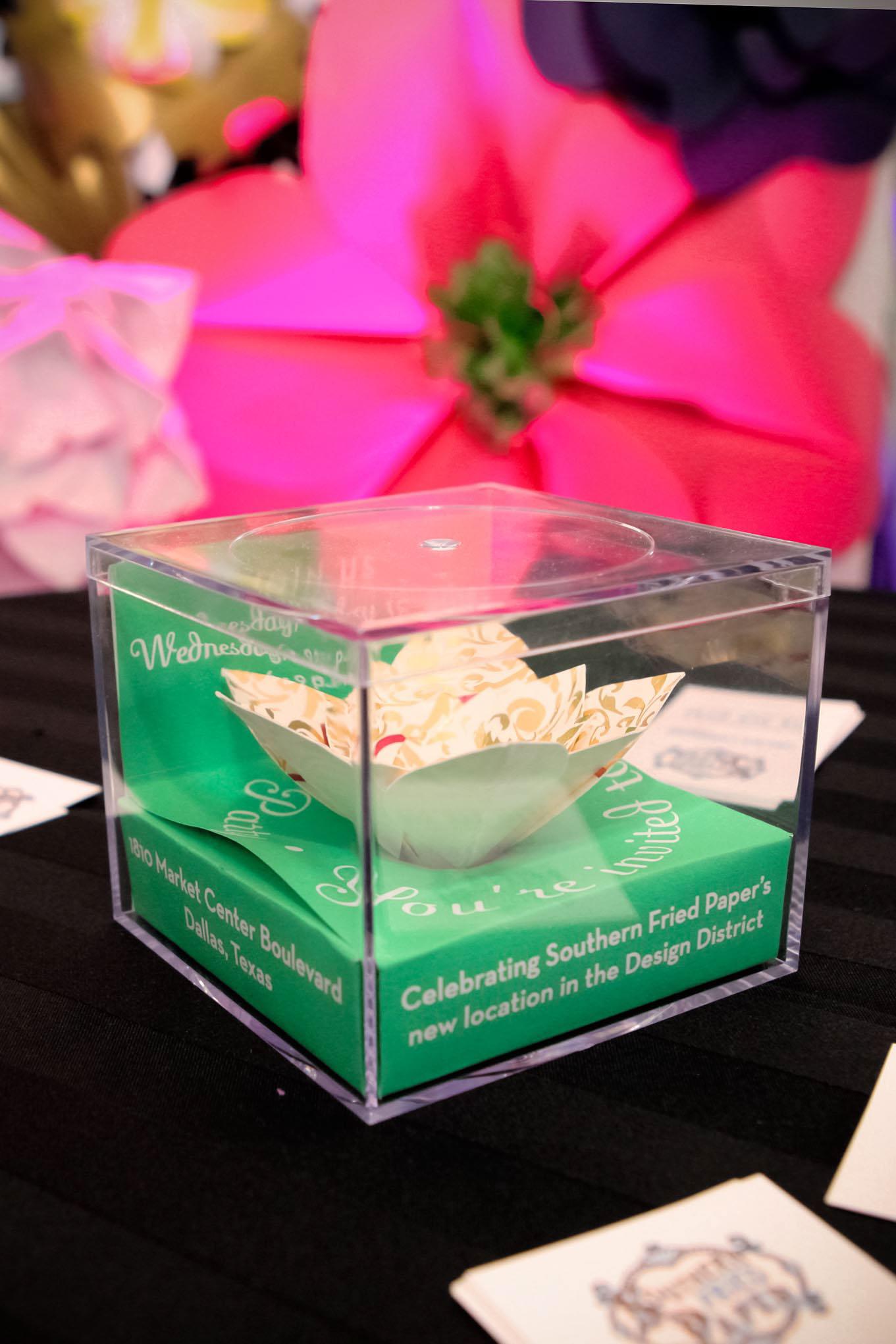 Irene Park Paper Flower Invitation