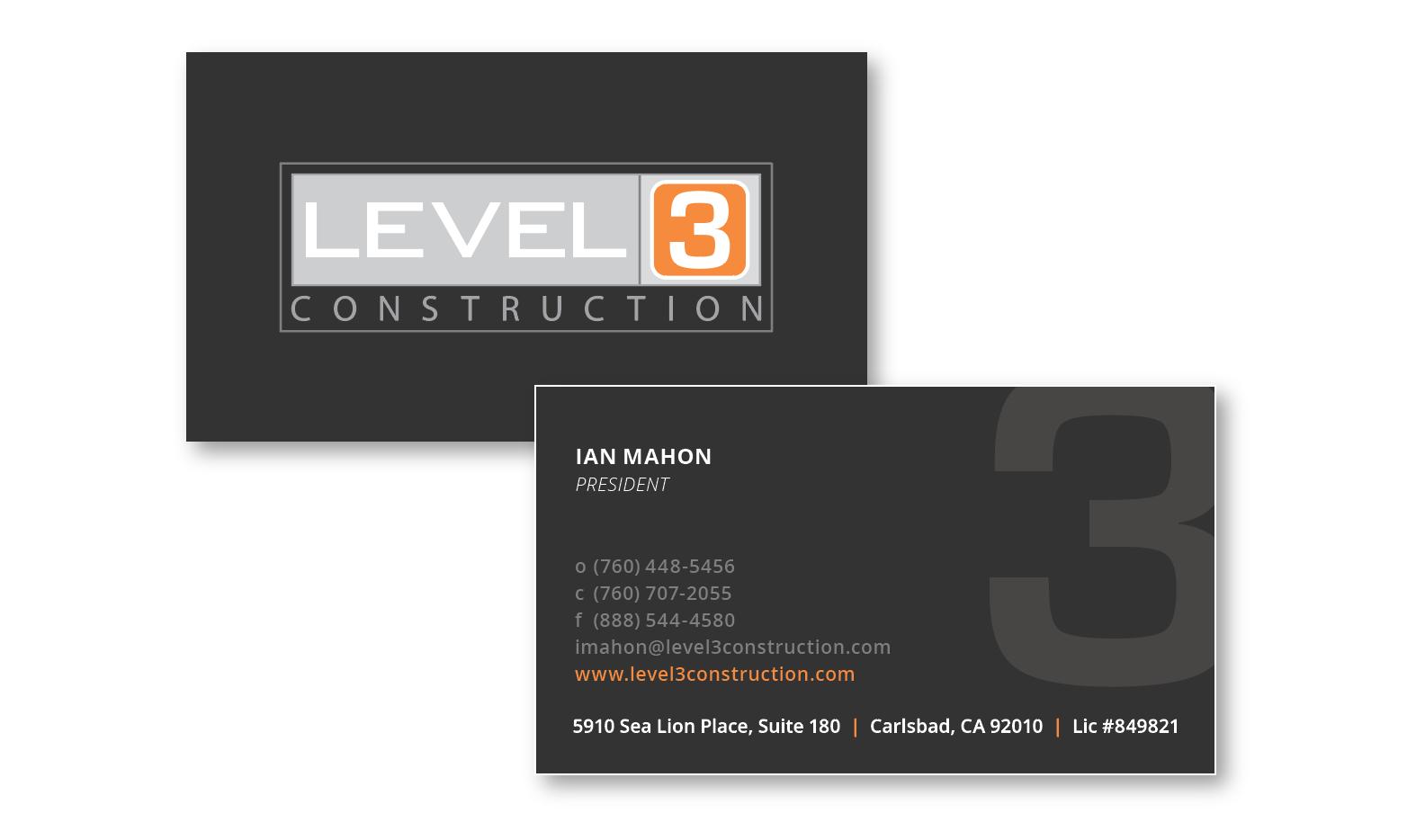 LEVEL 3 CONSTRUCTION on Behance