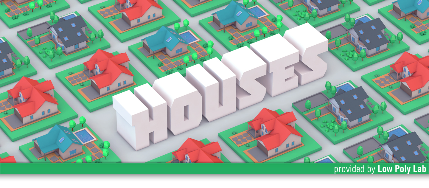 Low Poly Houses | Download 3D Models on Behance