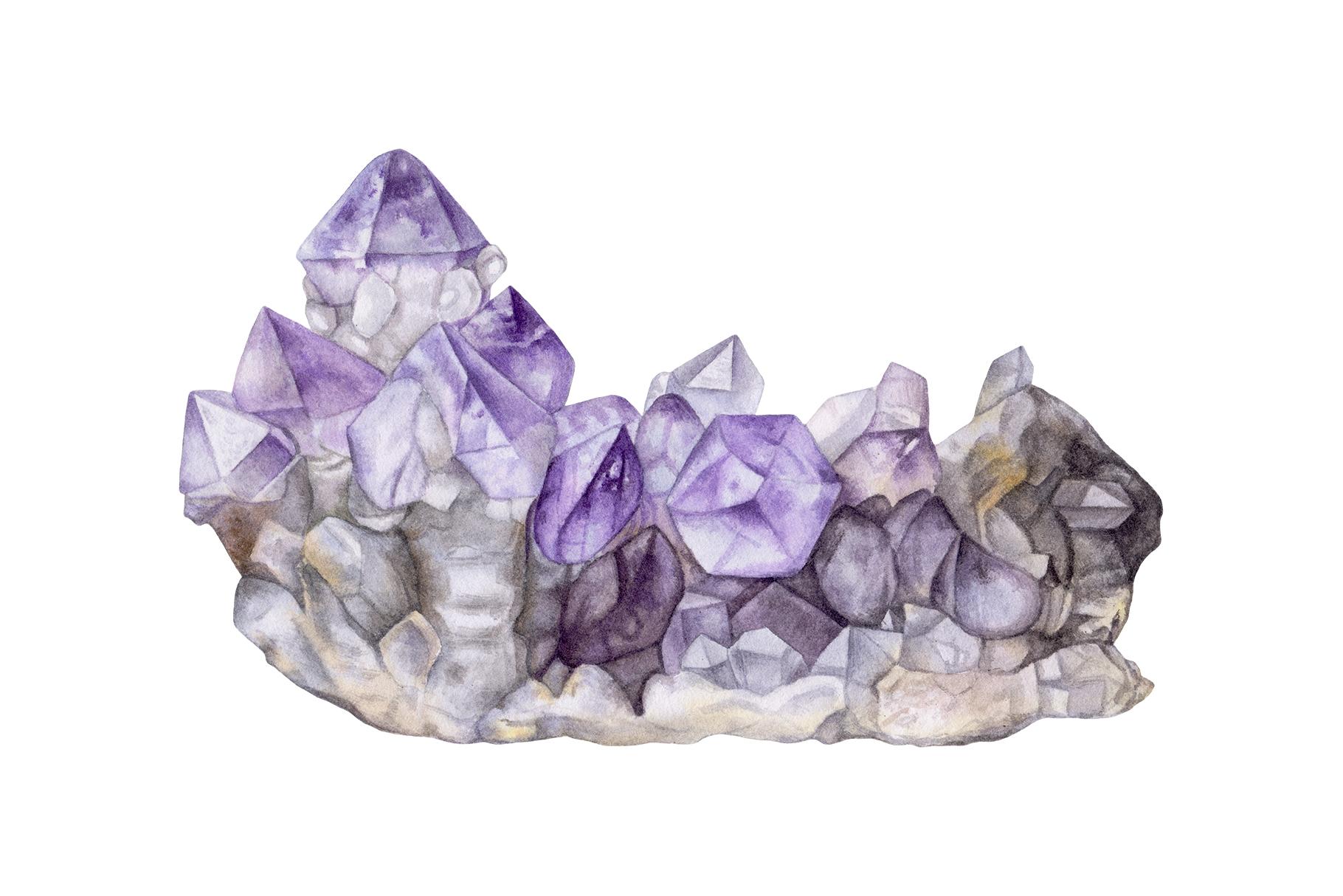 рисунок кристаллов аметиста всего