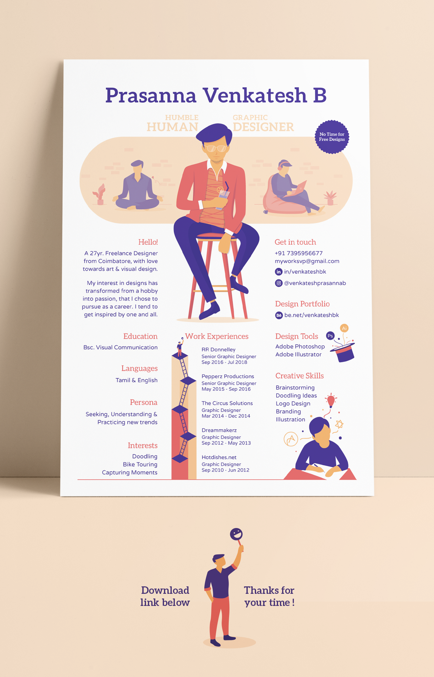 Graphic Designer Resume On Behance