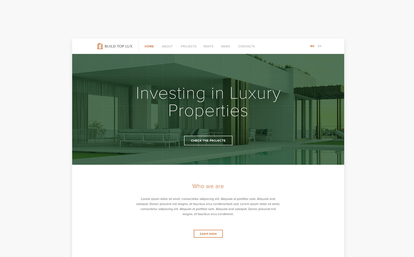 Signature real estate branding for build top lux on behance