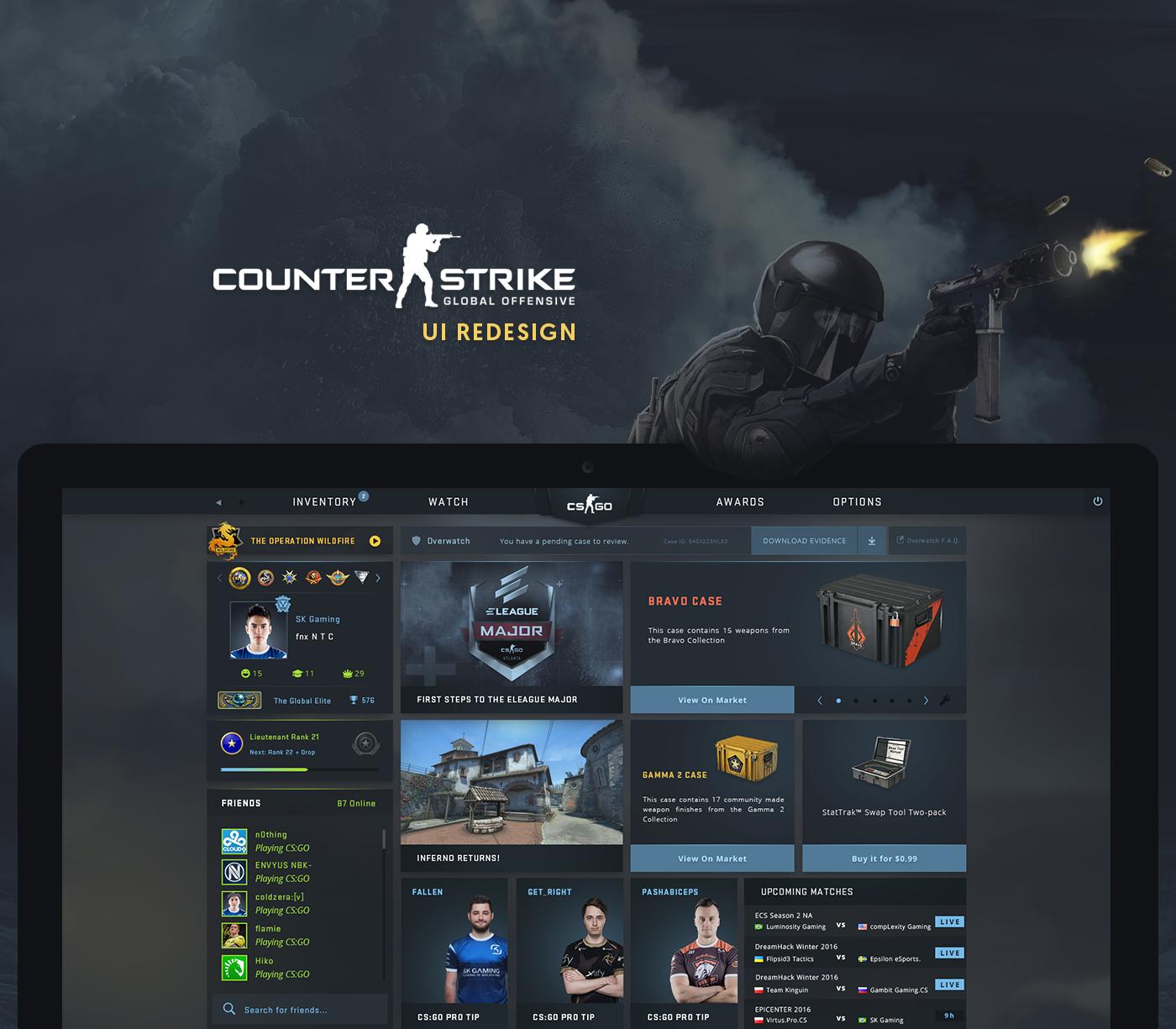 CS:GO - UI Redesign on Behance