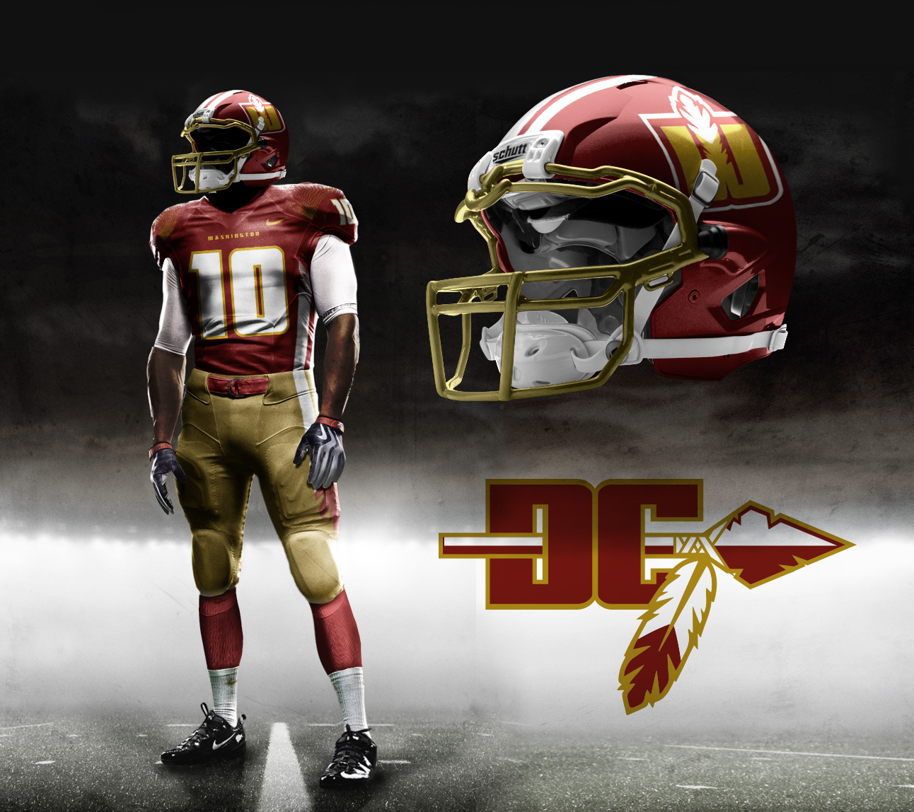 cc9ae04f9 Washington Warriors (Redskins Redesign) on Behance
