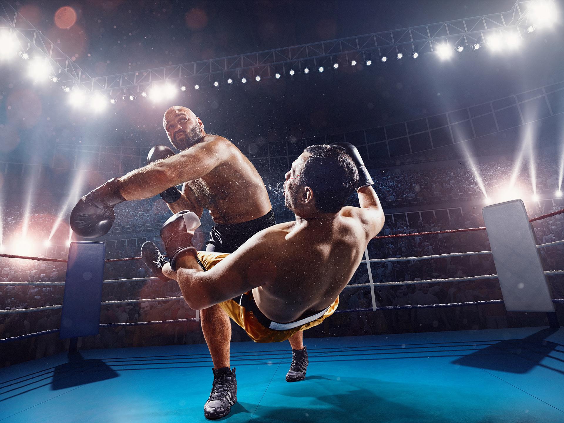 Картинка бой на ринге
