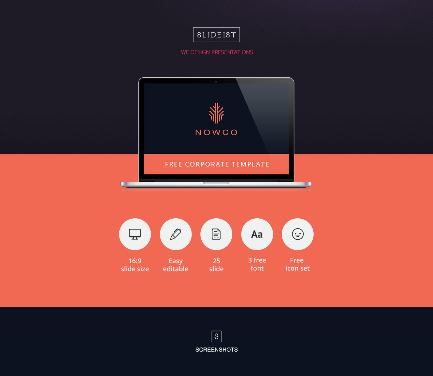 nowco // free powerpoint presentation template on behance, Presentation templates