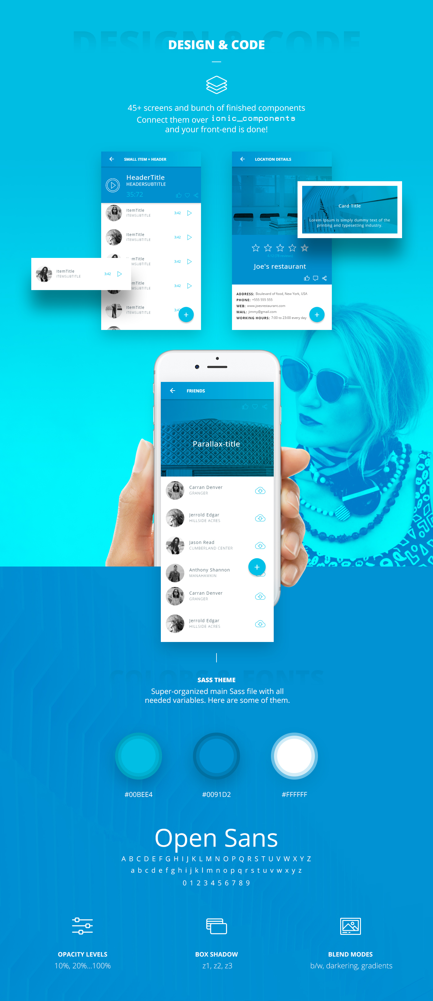 Ionic 3 UI Theme App - Material Design - Blue Light on Behance