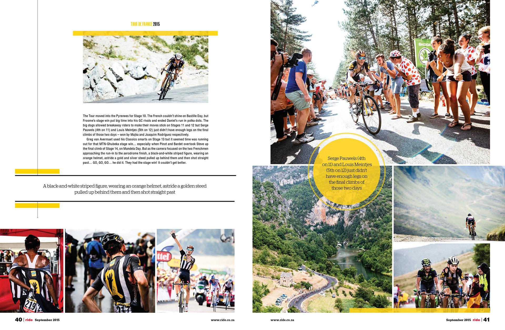 TOUR DE FRANCE: MTN- Qhubeka team - Ride Magazine on Behance
