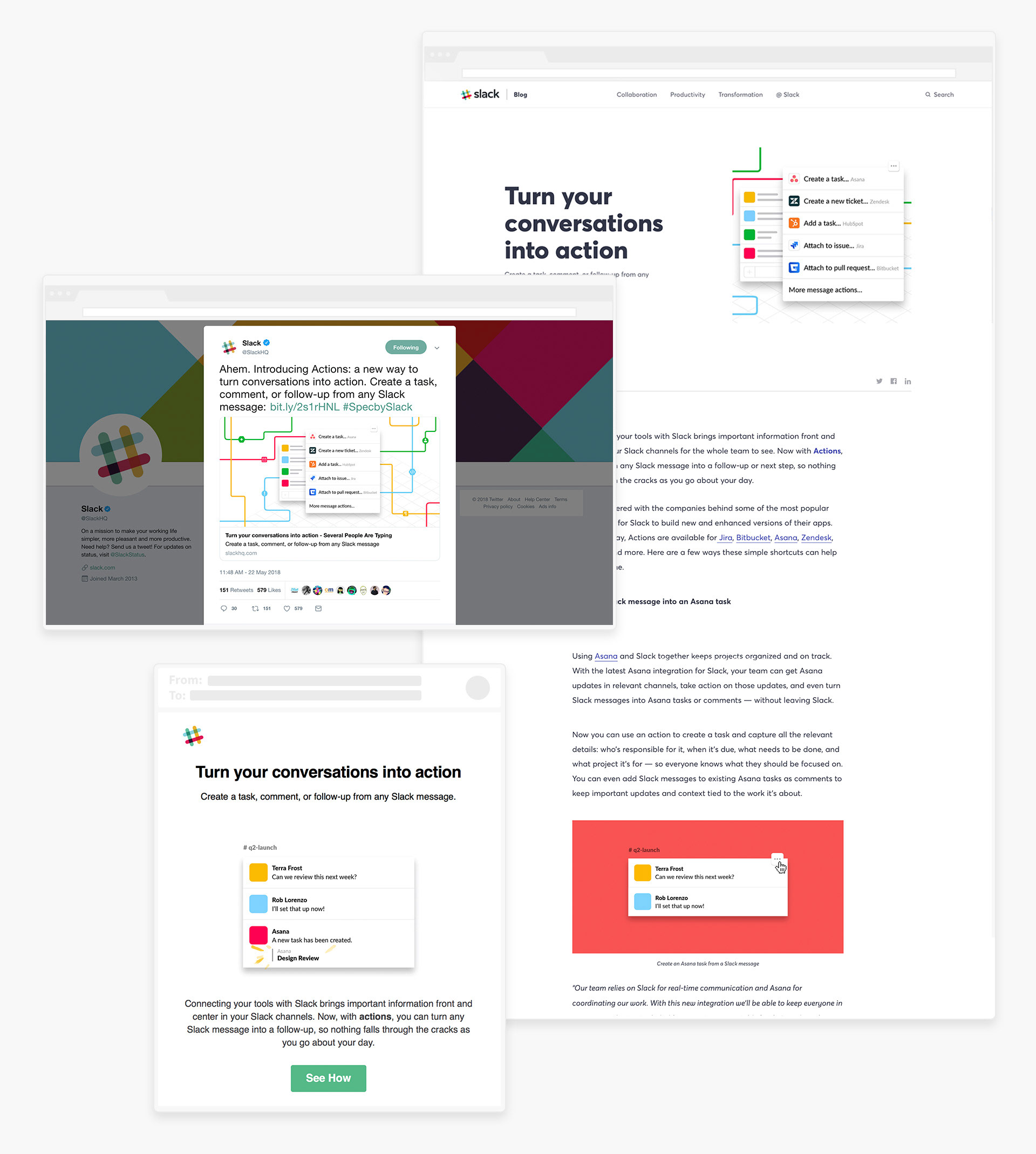 A selection of Slack Brand Design Projects