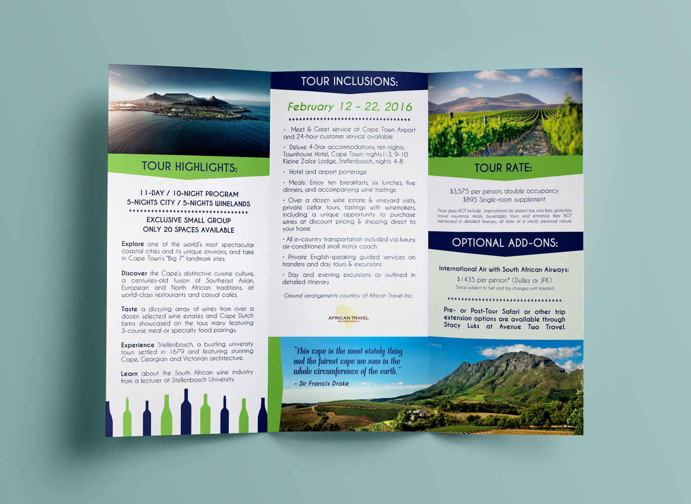 what does a travel brochure look like