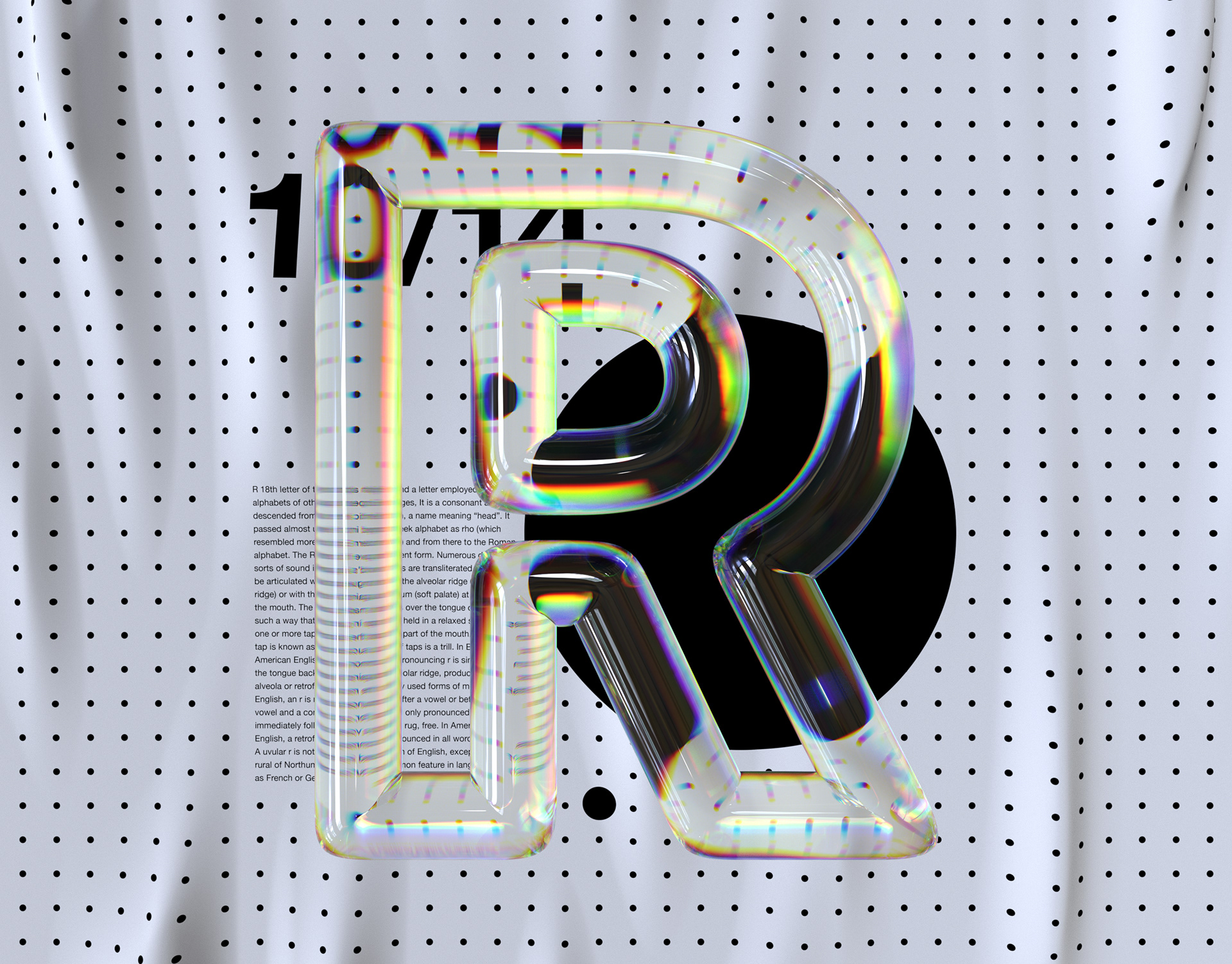 Alphabet Dispersion Typography Series