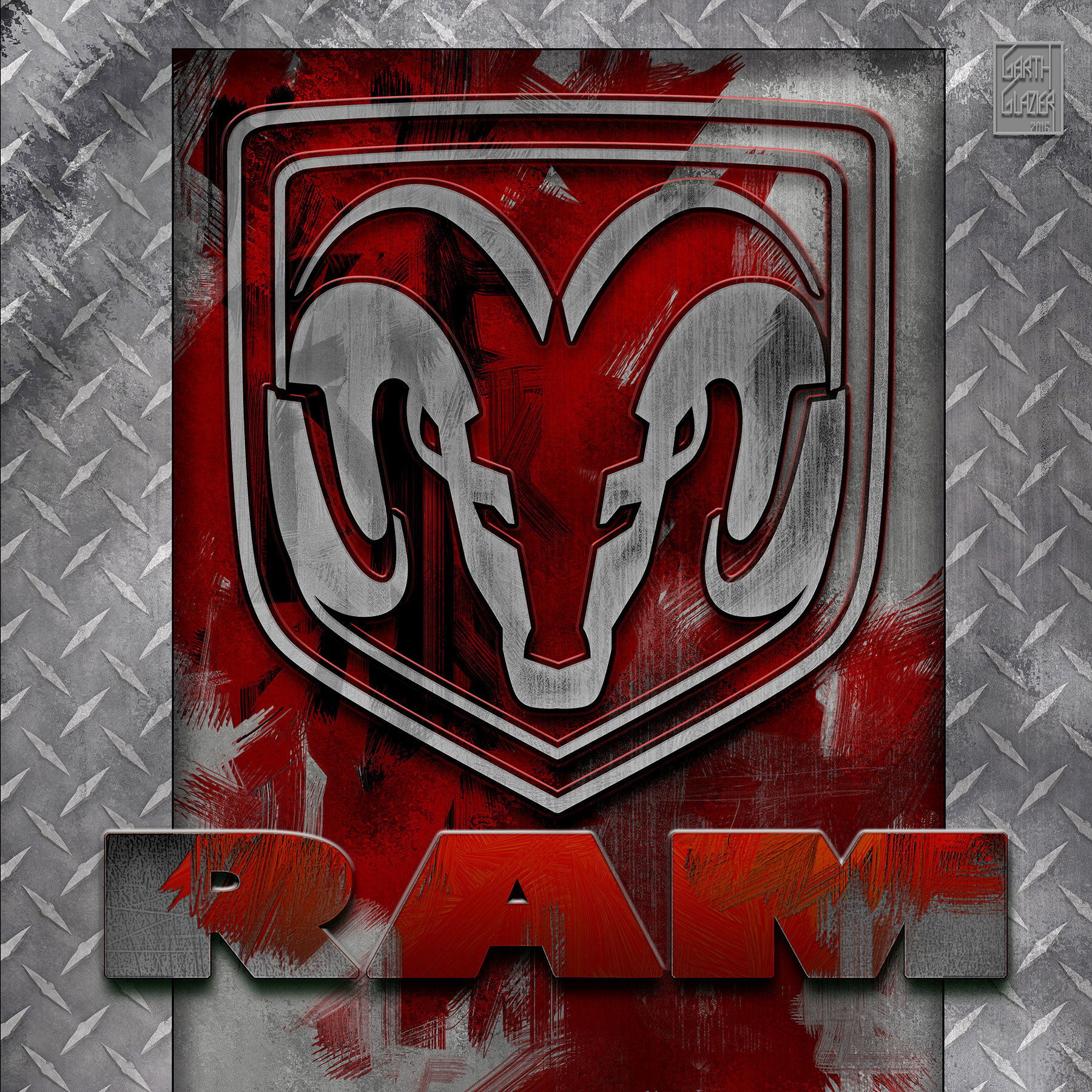 Garth Glazier Ram Amp Dodge Viper Logo Project Variations