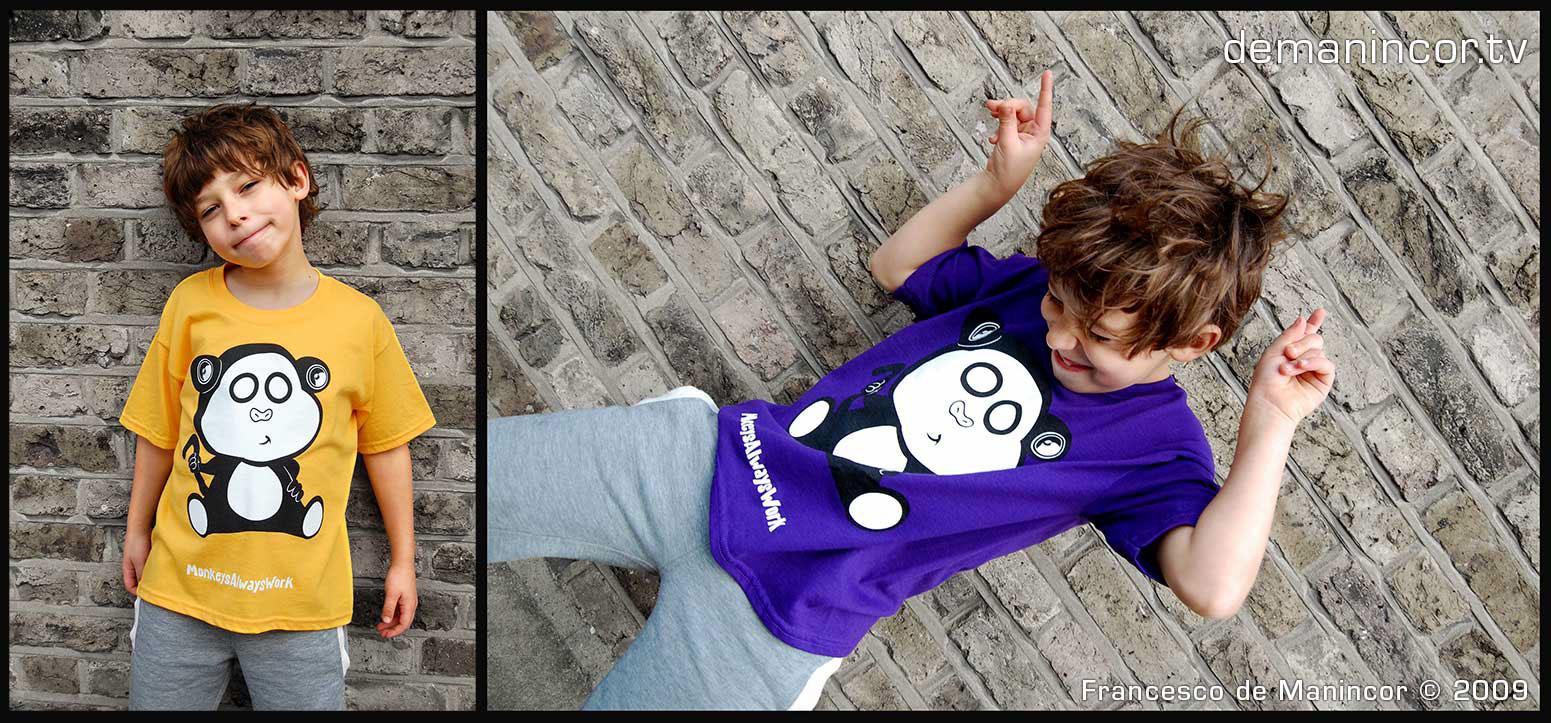 MonkeysAlwaysWork T-shirts design by Francesco de Manincor