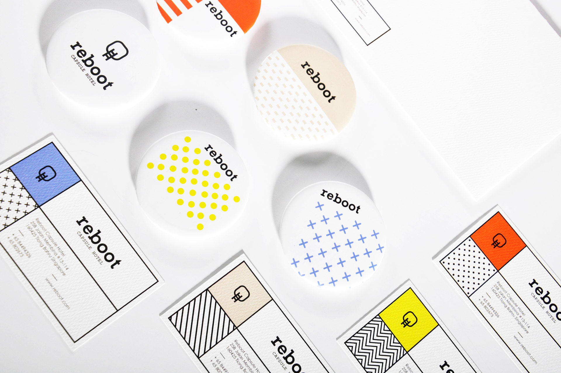 Reboot Capsule Hotel - Branding and Visual Identity