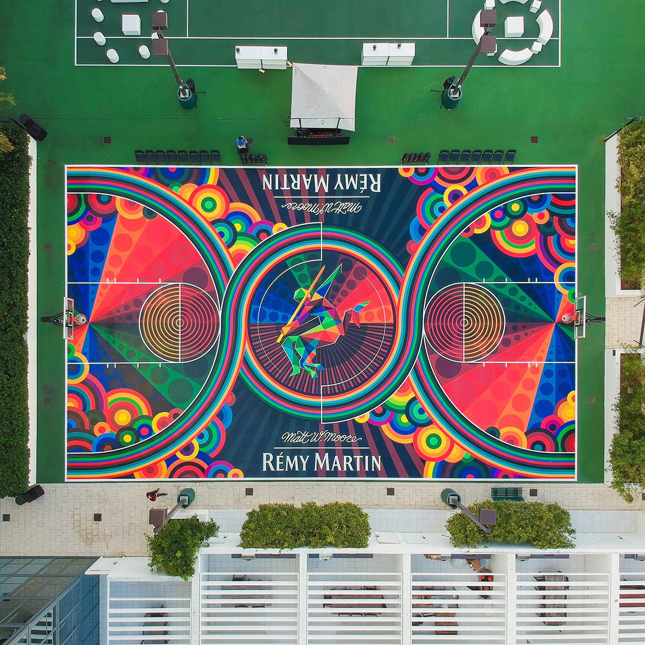 Timeless Basketball Court Art by Matt W. Moore