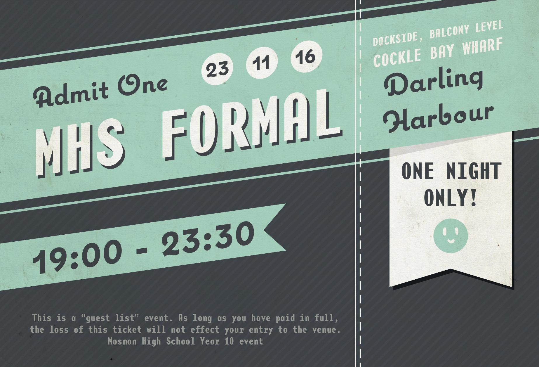 formal ticket design on behance