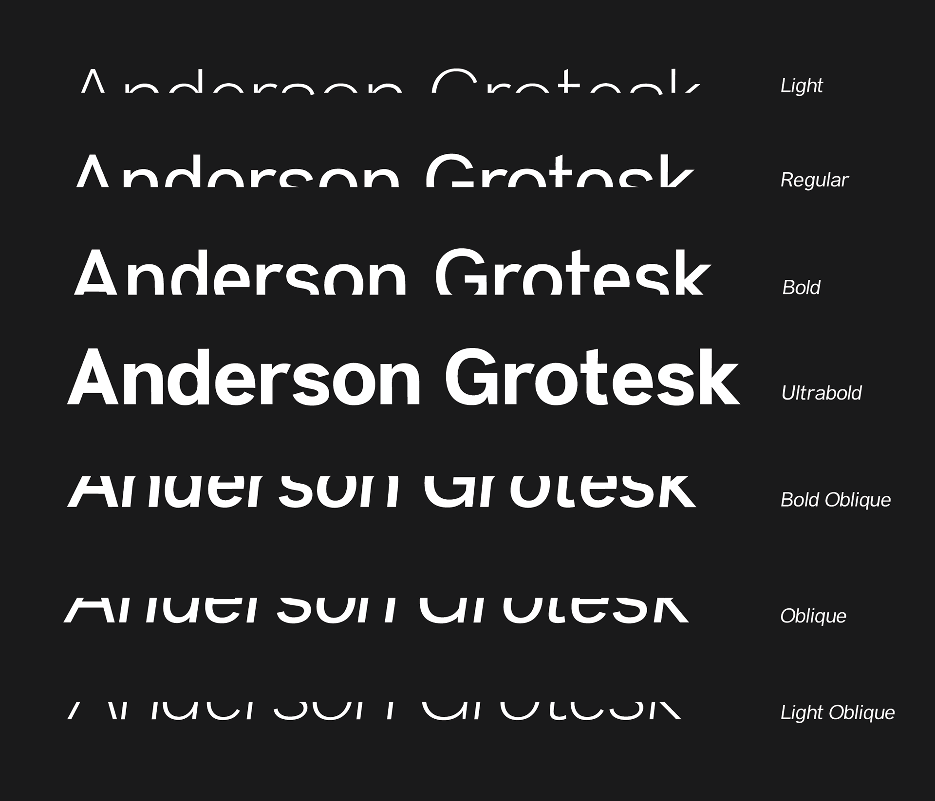 Anderson Grotesk | A free font family  on Behance
