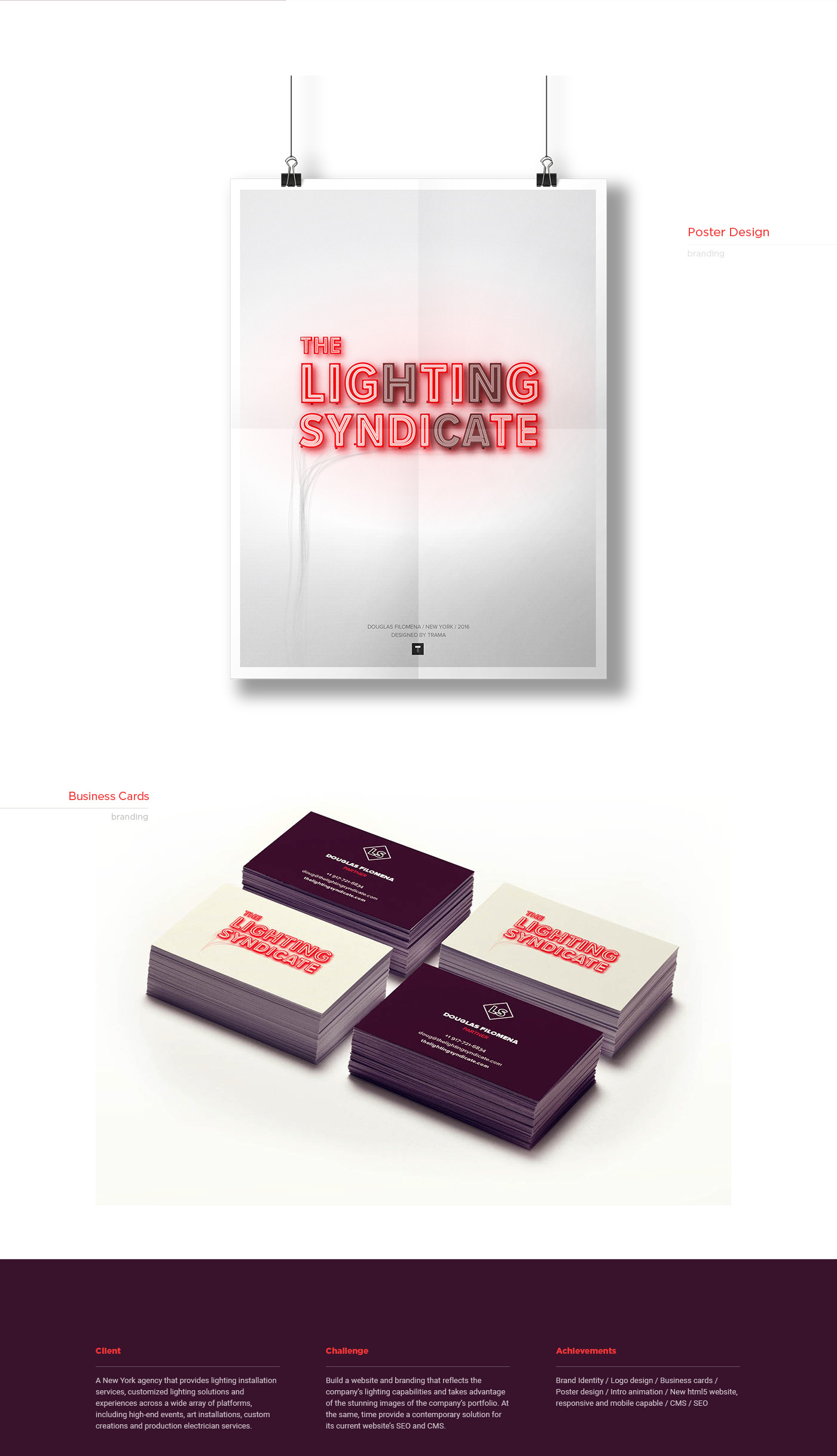 the lighting syndicate branding web design on behance