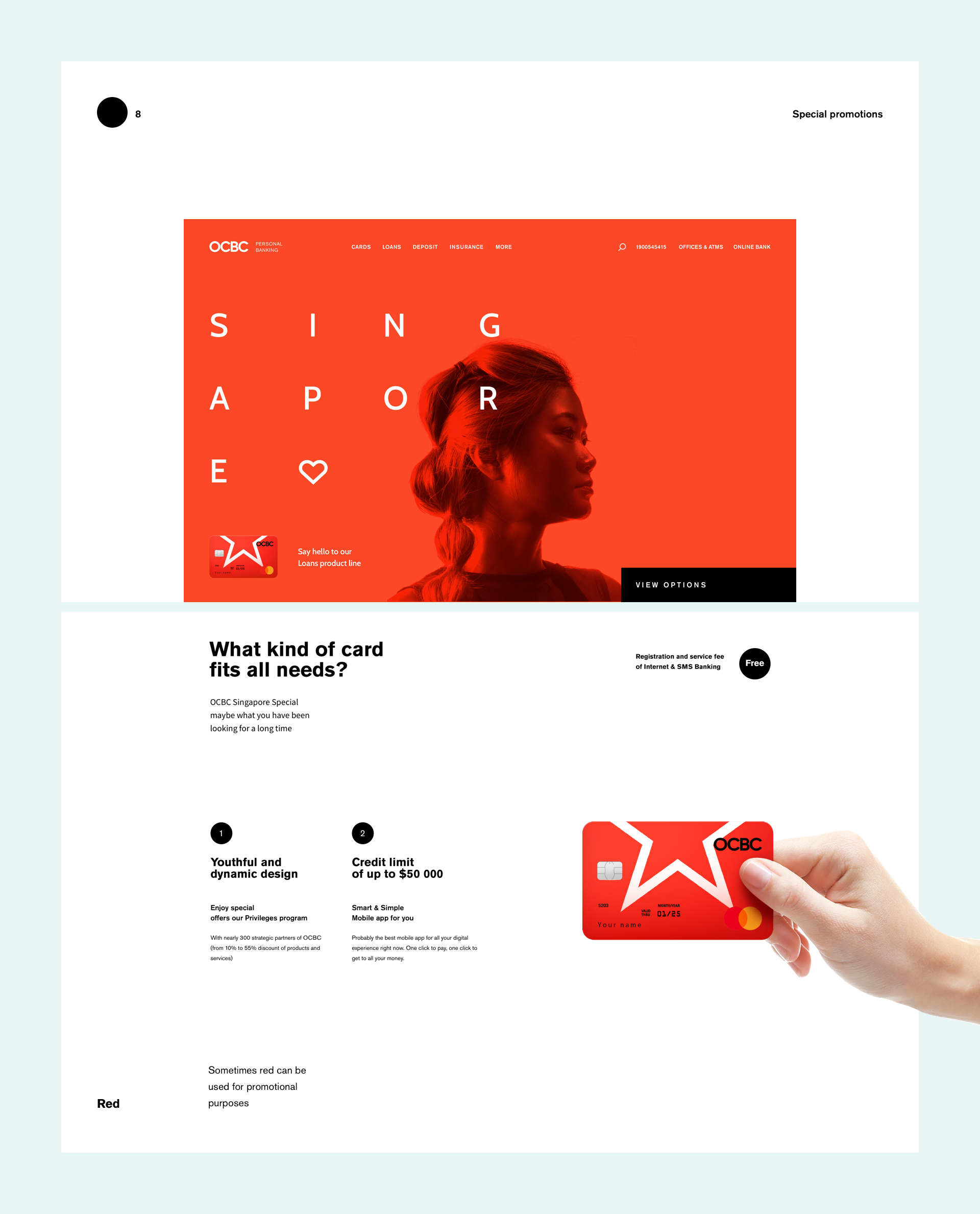 Web Design & UI/UX: OCBC Personal Banking Concept