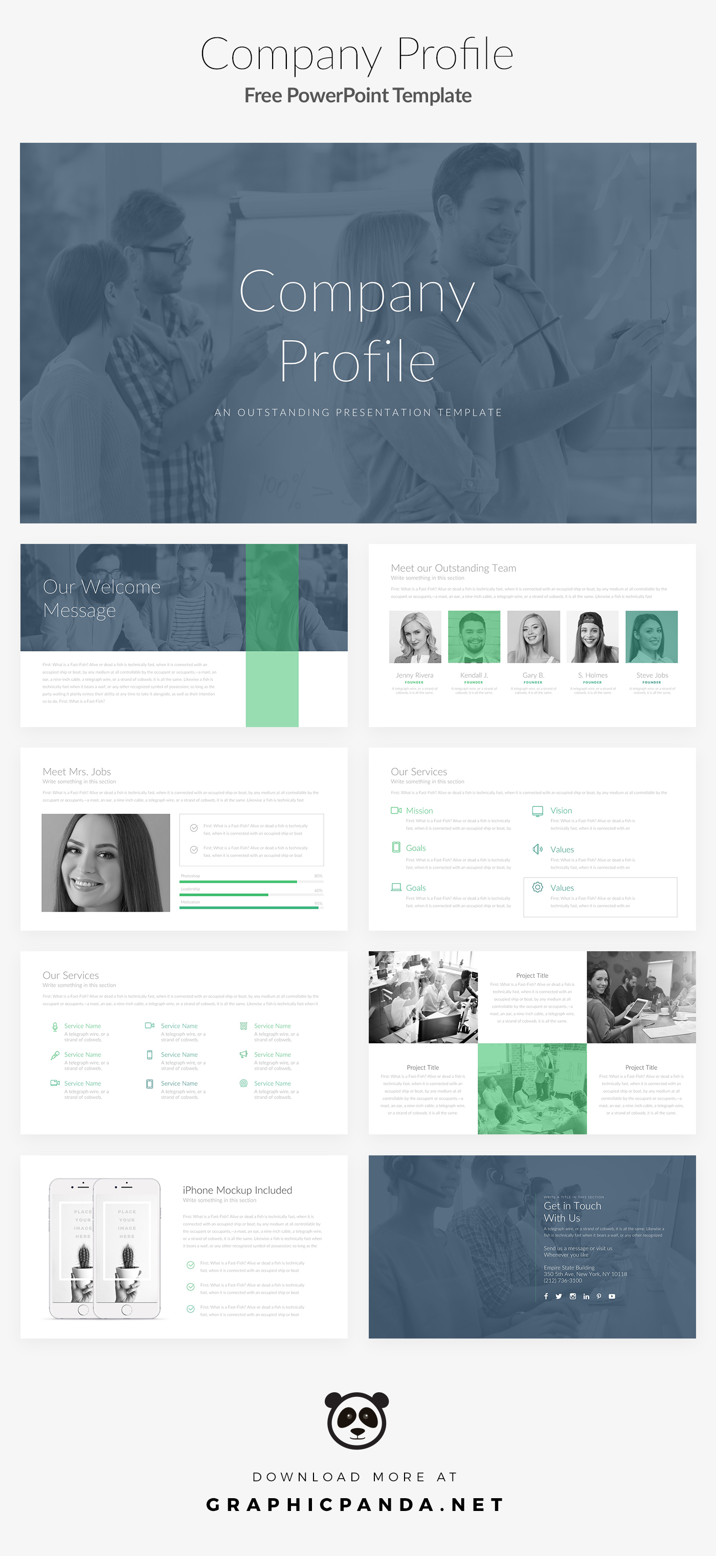 Free powerpoint template company profile pitch deck on behance if youre struggling with making a well designed presentation then this company profile free powerpoint template can help you achieve the creative and accmission