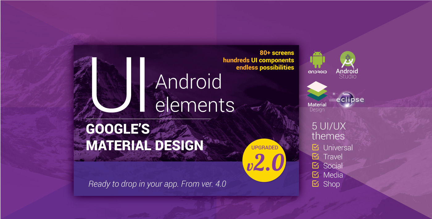 Material Design UI Android Template App On Behance - Google design templates