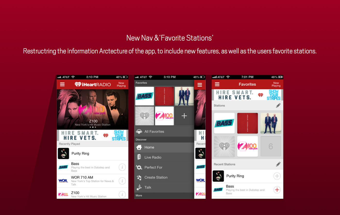 iHeartRadio iPhone App on Behance