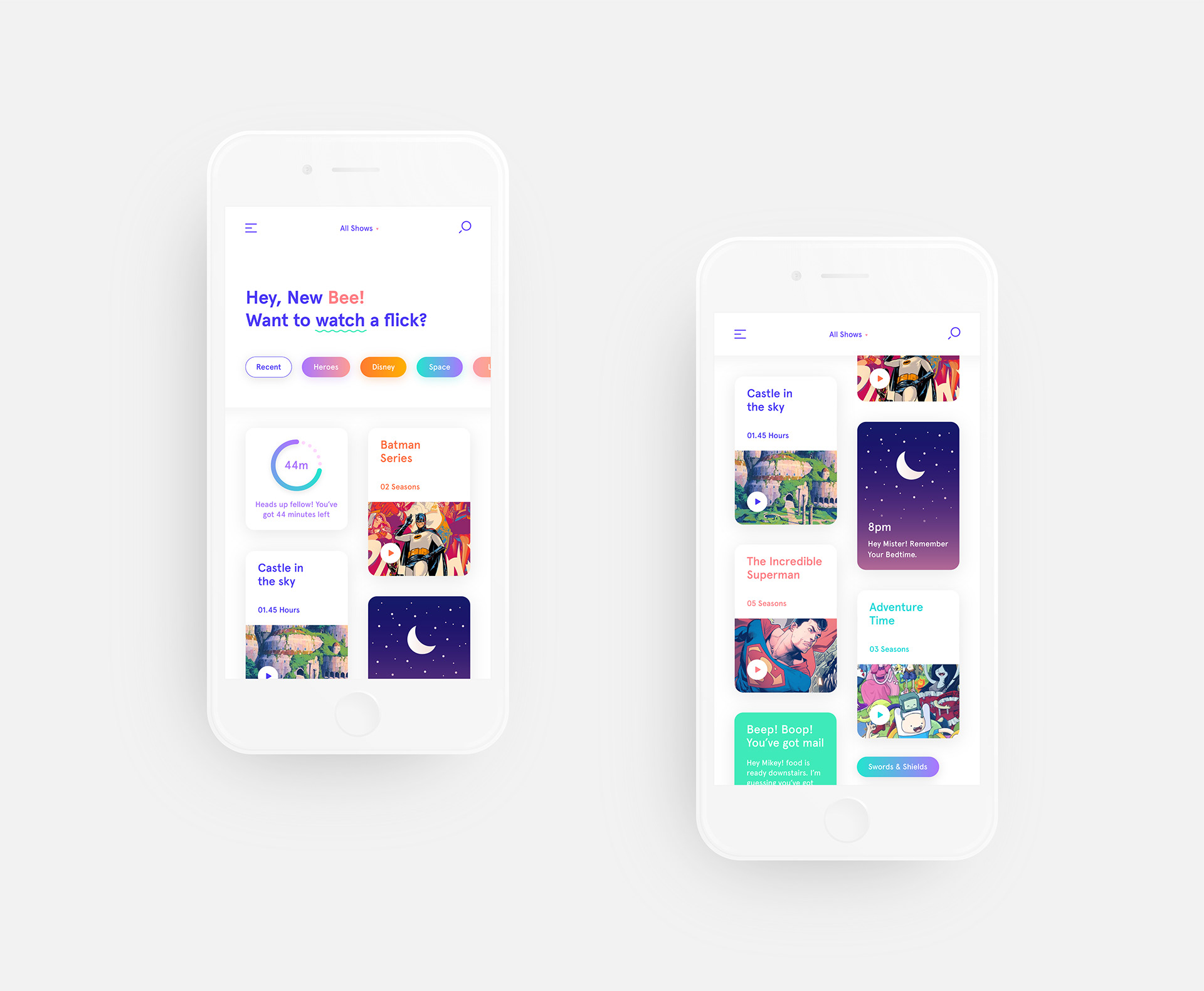 Designing a Streaming App for Kids, Hello KiddOs - Interaction Design