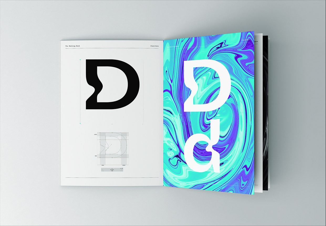 Melting Elements Typeface on Behance