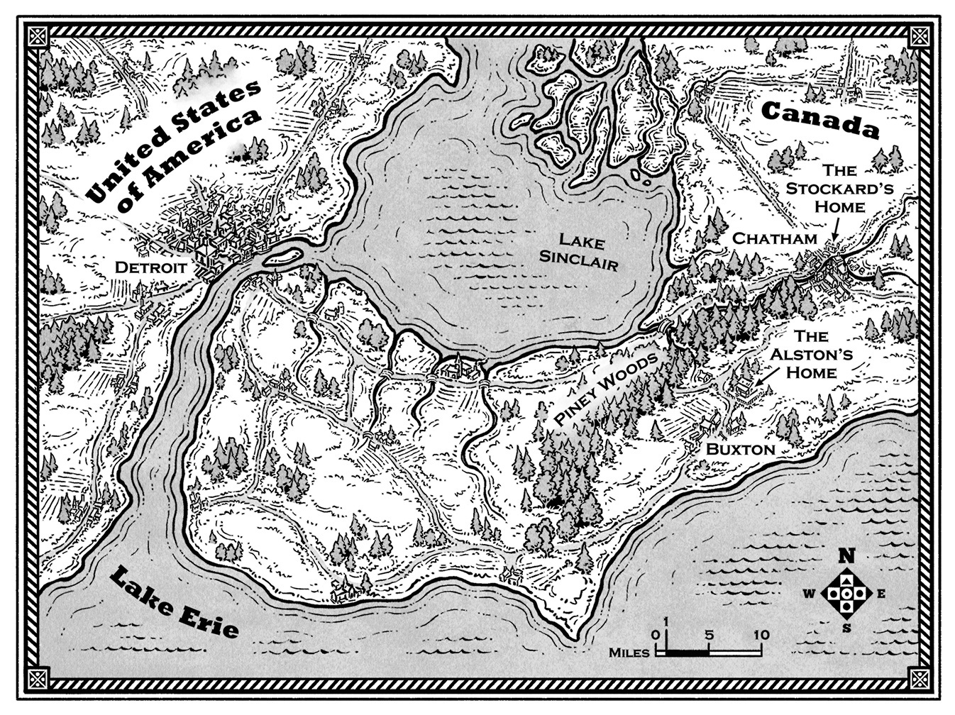 Madman of Piney Woods Map