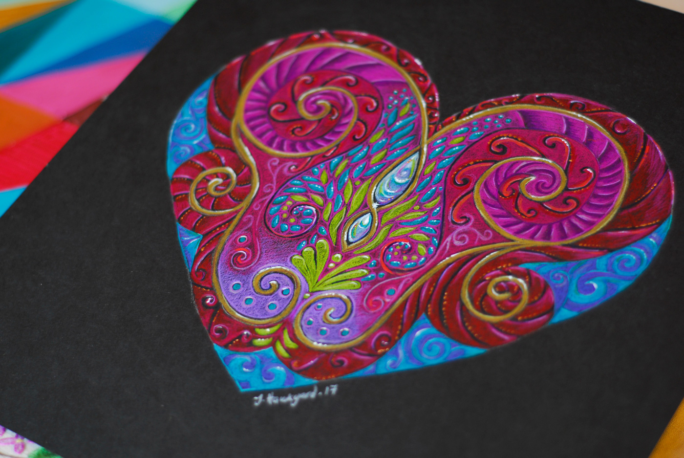 Close up photo of Heart Totem by Jennifer Hawkyard