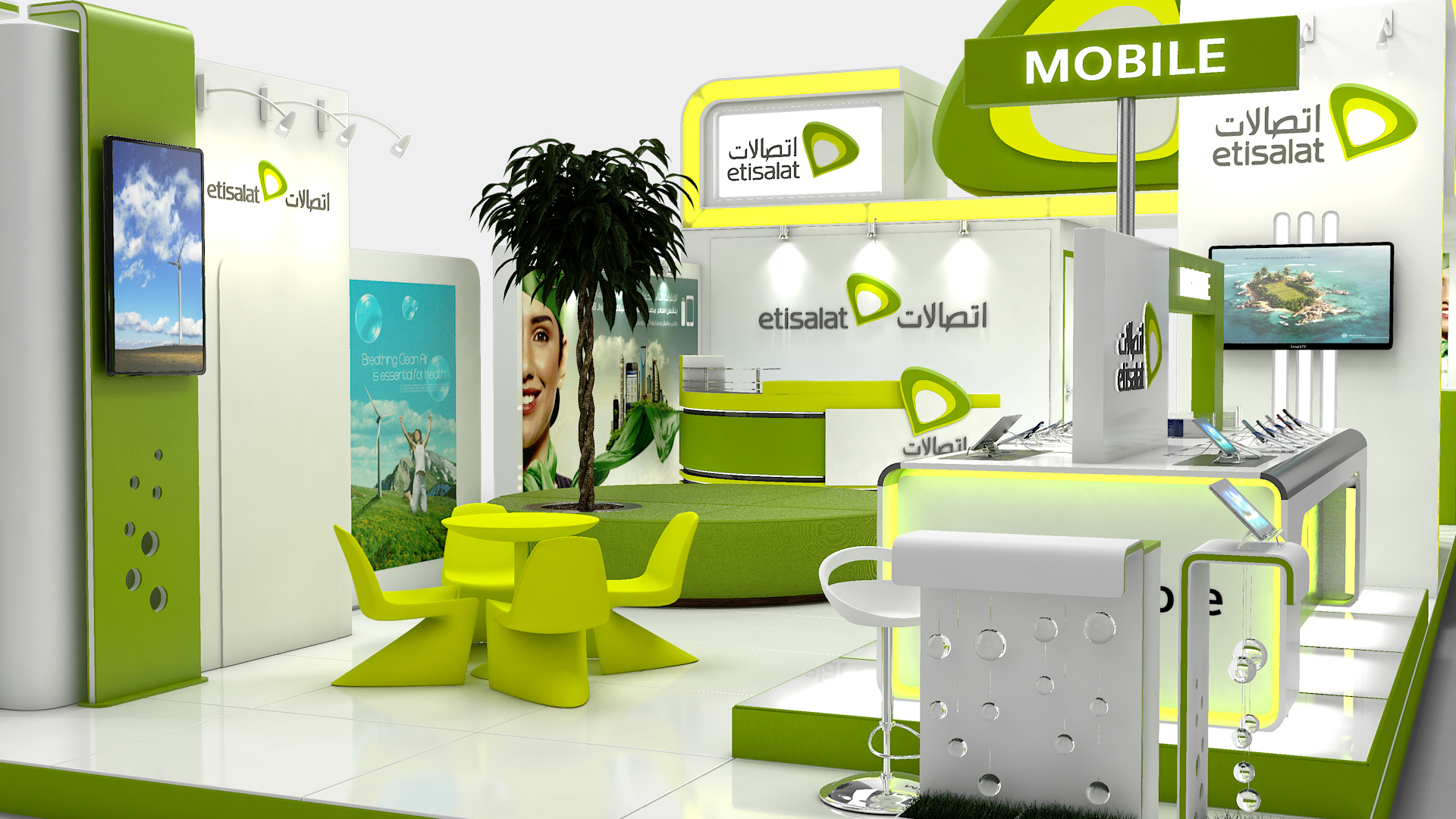 Etisalat Exhibition Stand Design on Behance