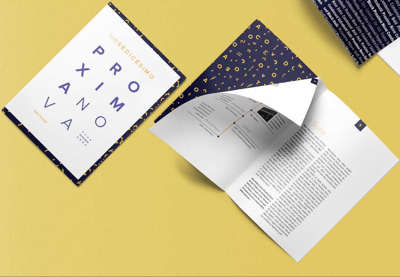 Proxima Nova | Font Booklet on Behance