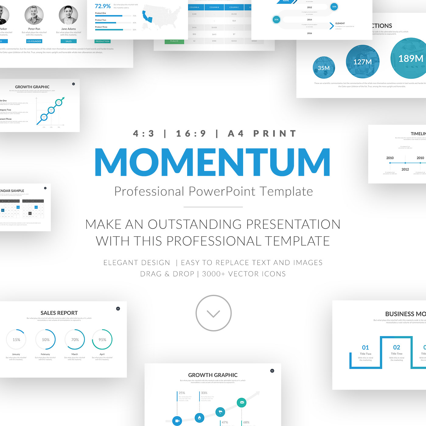 momentum professional business powerpoint template on behance
