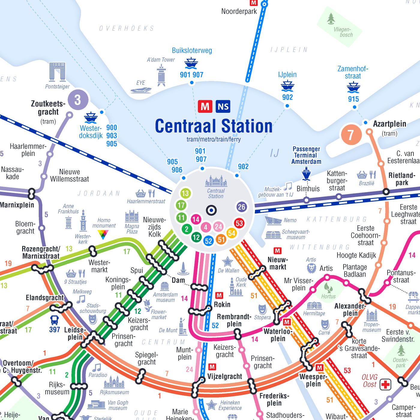 Amsterdam Subway Map.Metro Tram Amsterdam 2018 On Behance