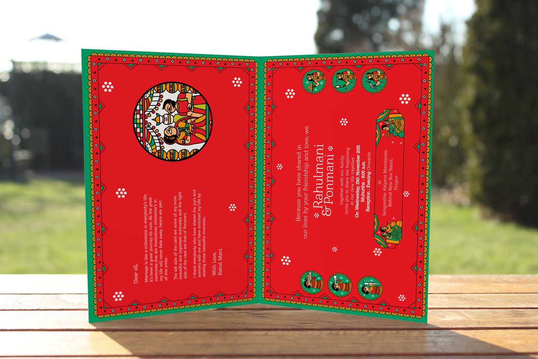 Indian Wedding Card in Phad Painting, Indian Folk Art on Behance
