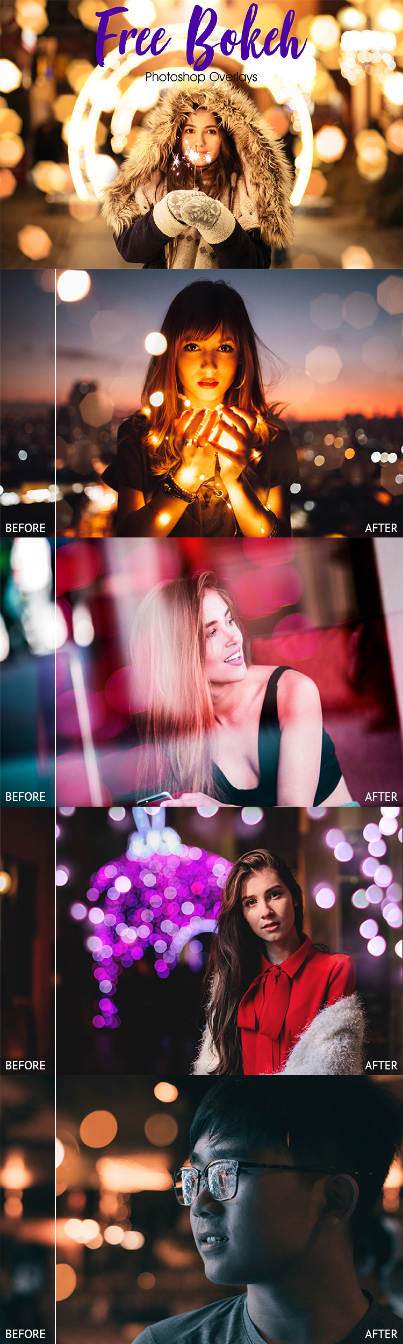 10 Free Bokeh Overlays for Photoshop on Behance