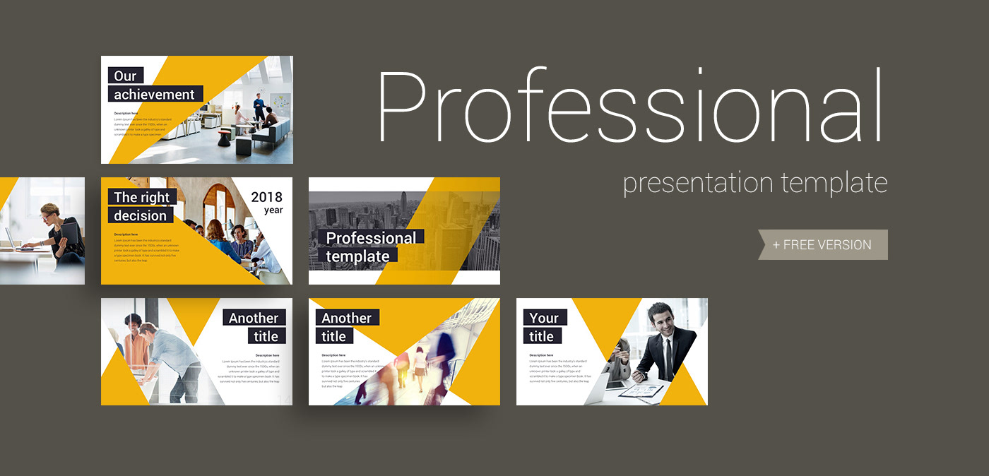 pro presentation template on behance