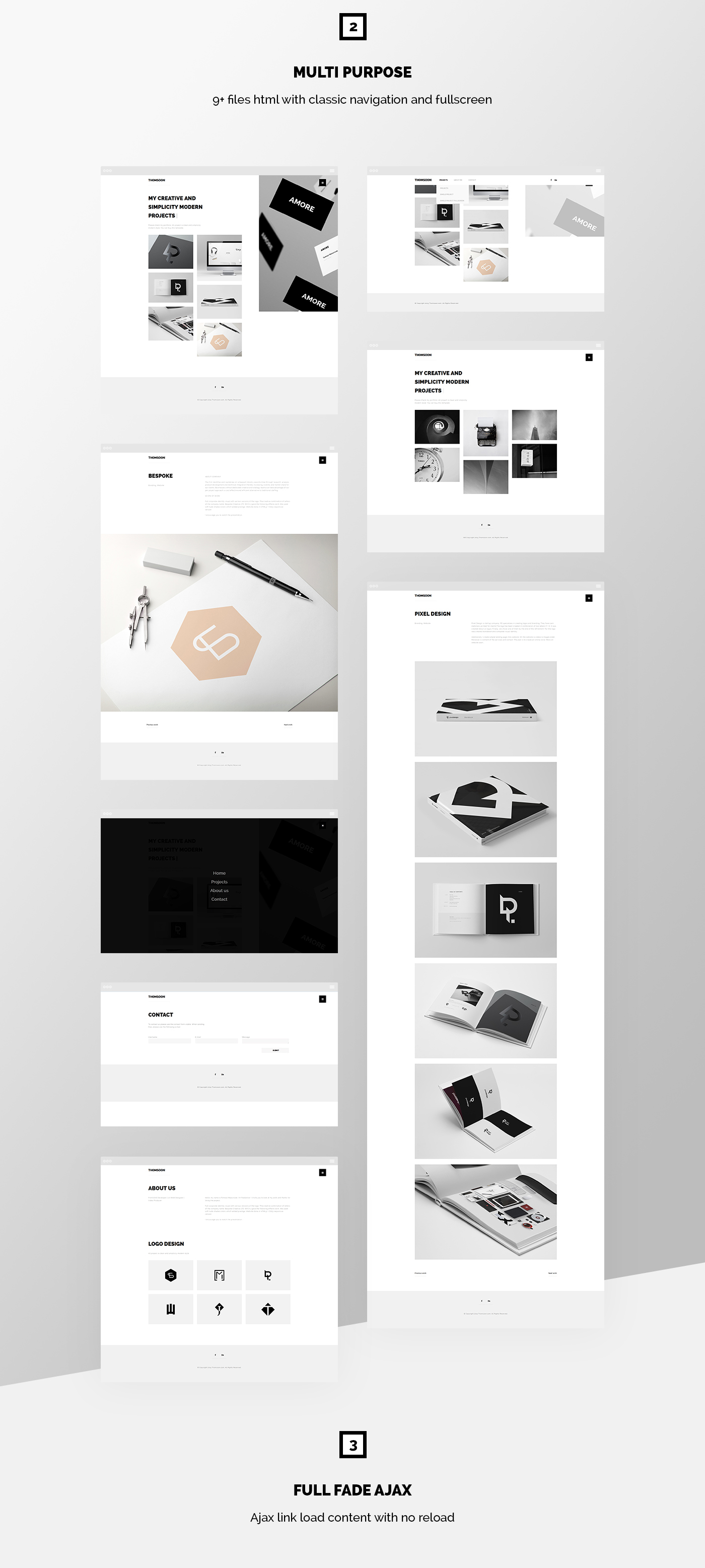 THOMSOON - Free responsive Portfolio Theme DOWNLOAD on Behance