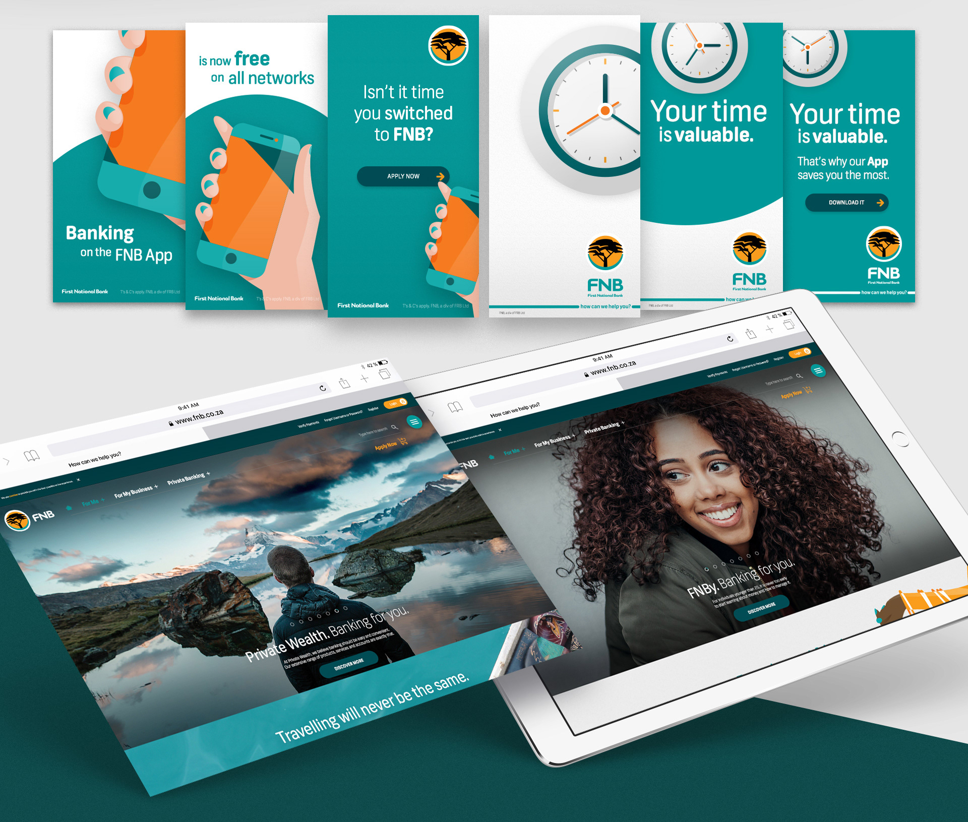 FNB - UI / UX / Digital Branding / Advertising on Behance