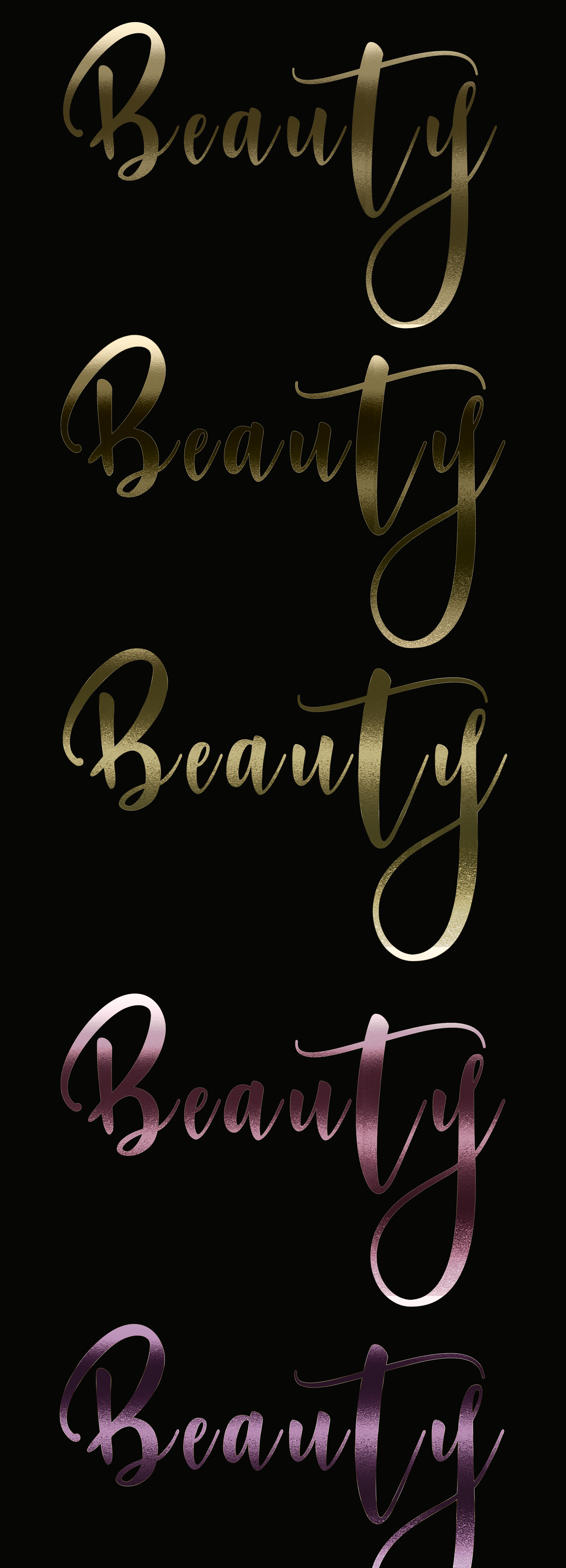 Gold Foil Photoshop Styles includes the tutorial on Behance