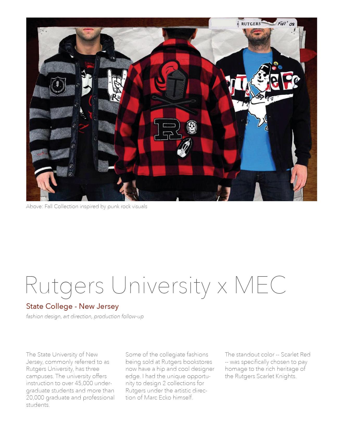 Rutgers University Apparel Design On Behance