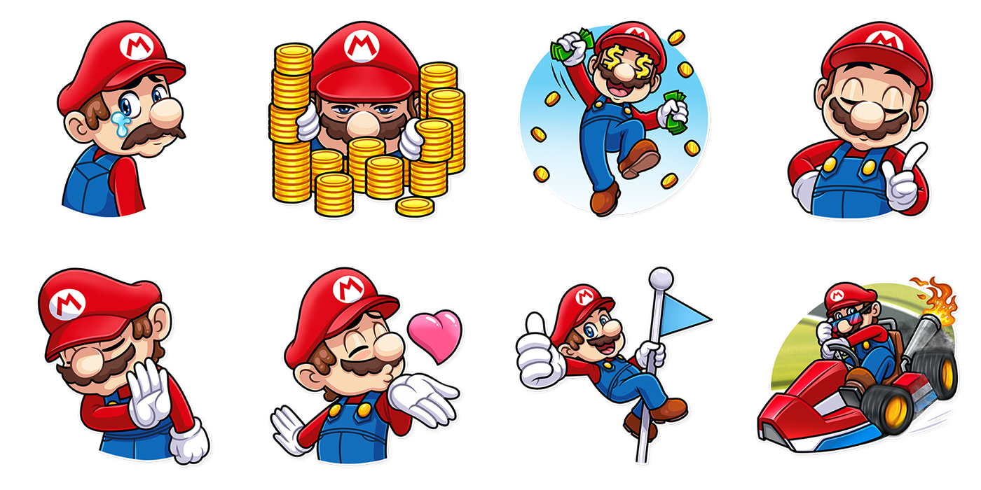 Super mario telegram stickers 2018 on behance