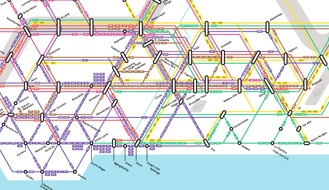 Accra Trotro Network Map on Behance