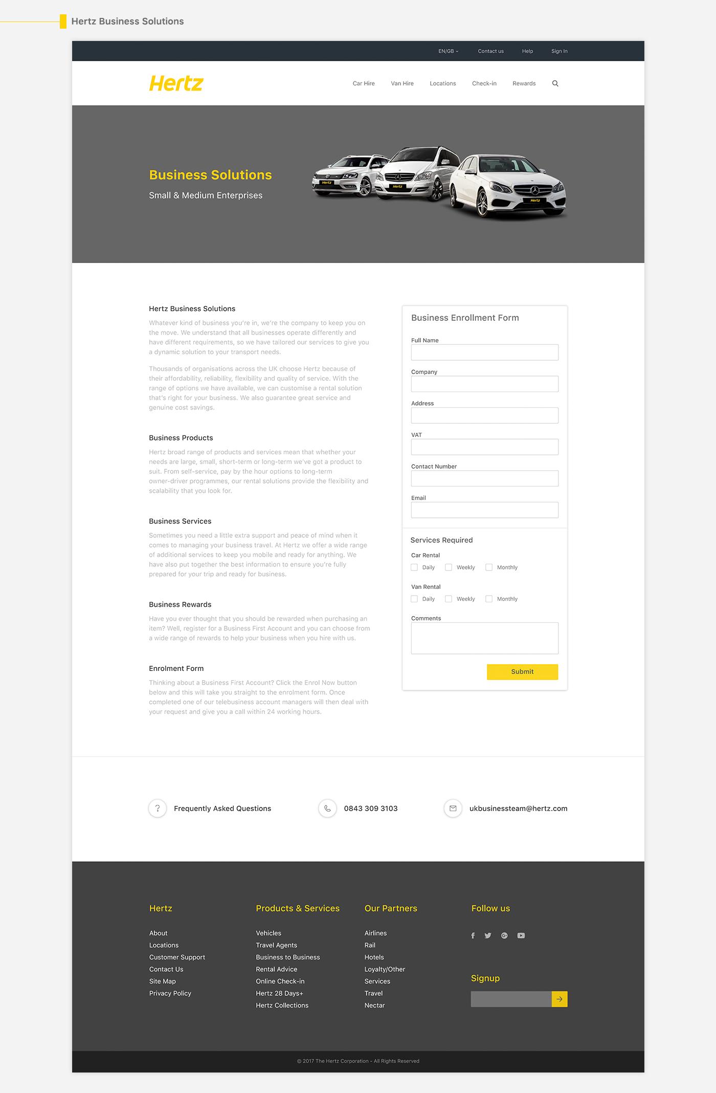 Hertz Car Rental Redesign Concept on Behance