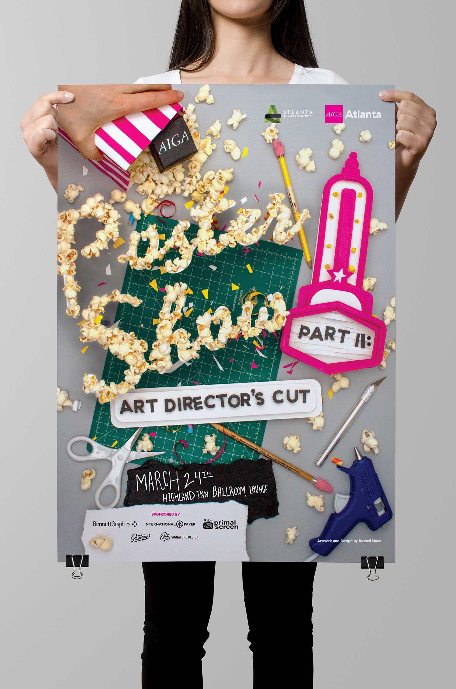 Poster Event & Graphic Design: Russell Shaw AIGA Atlanta 2017 Poster Show