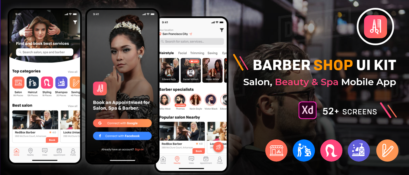 Barber Salon Ui Kit On Behance