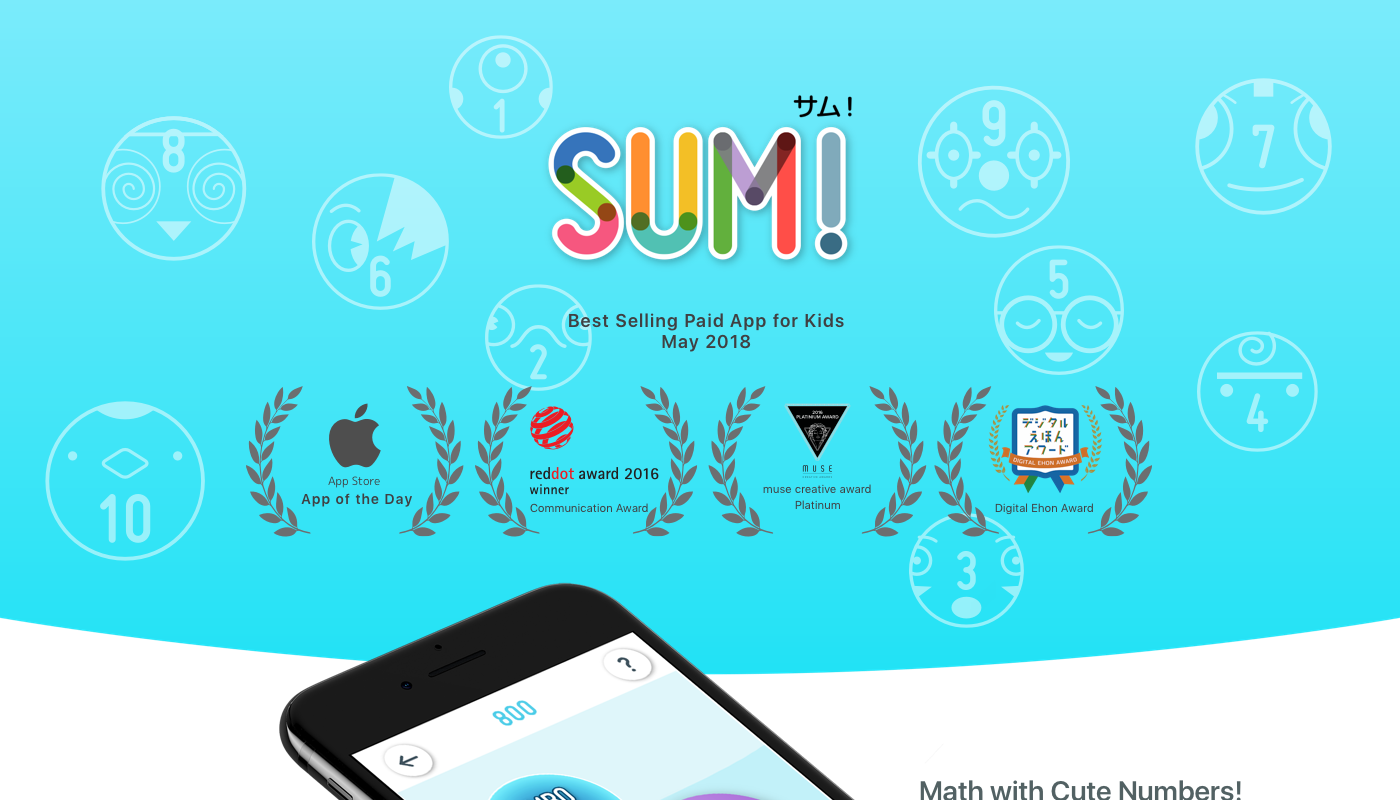 SUM! – Math with Cute Numbers on Behance