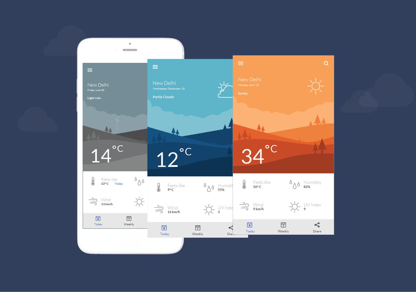 Weather App Concept on Behance