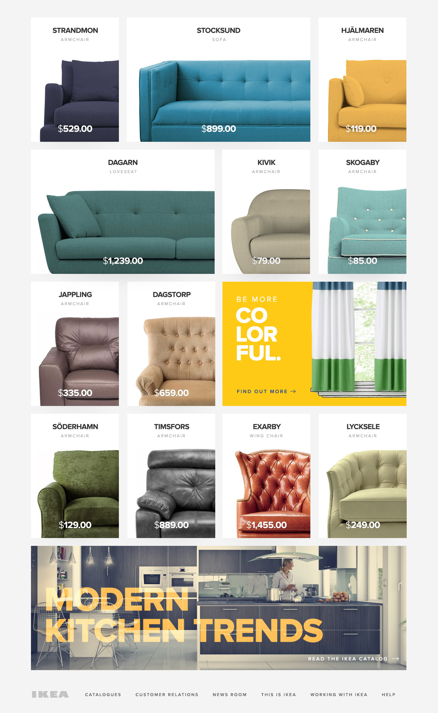 Redesigning the Website of IKEA on Behance